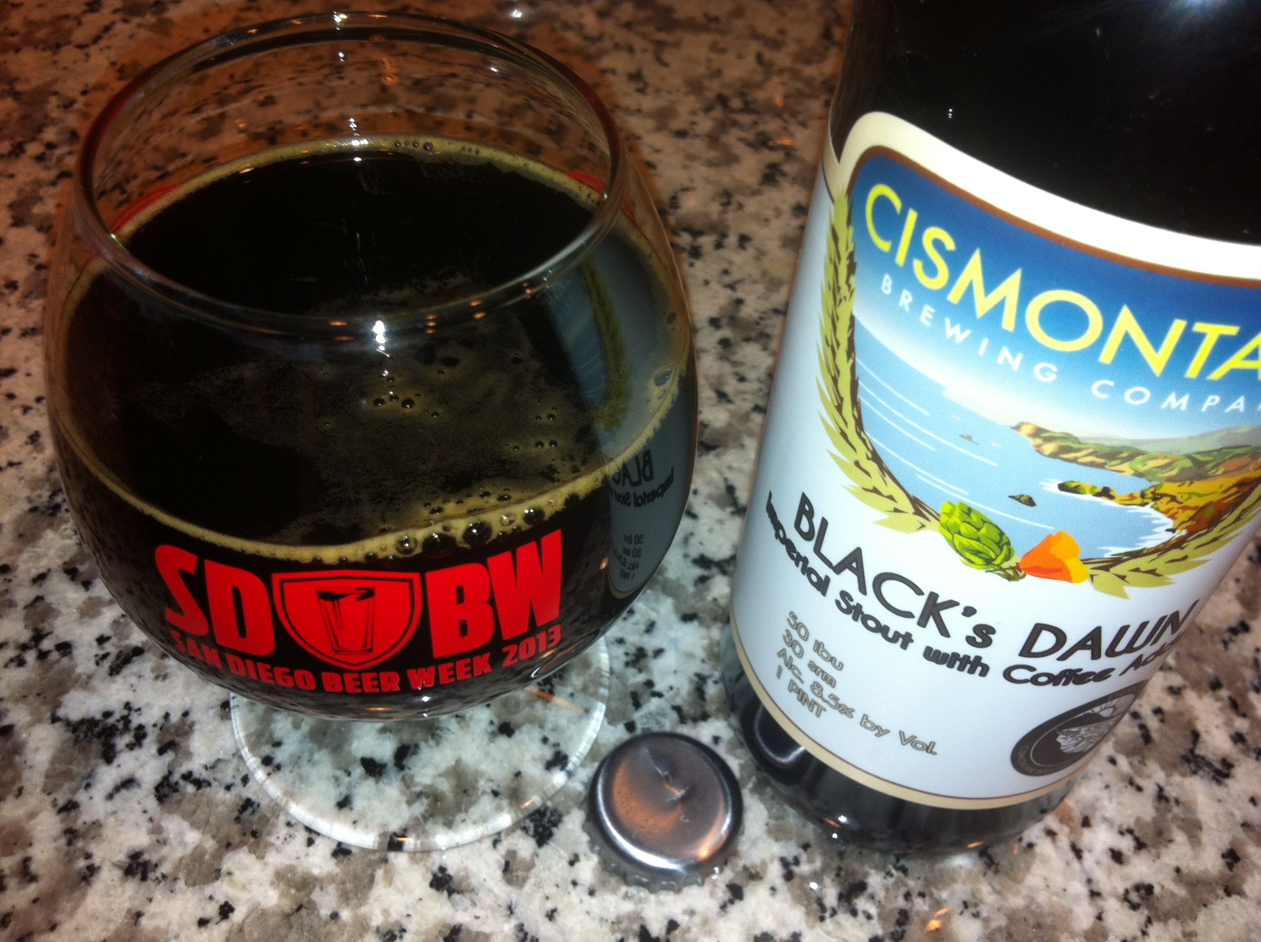 International Stout Day 2013 enjoyed with Cismontaine Black's Dawn