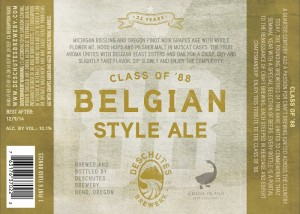 Deschutes & Goose Island Class of 88 Belgian Style Ale  1
