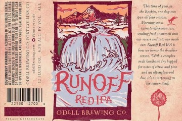 Odell Runoff Red IPA releases on January 4th 1