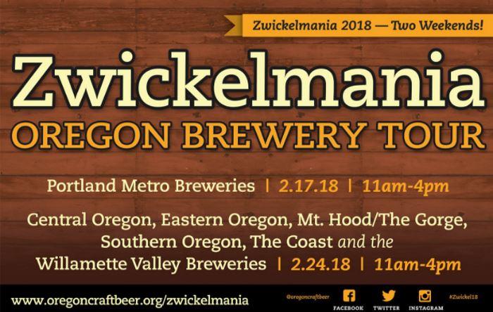 Oregon to celebrate 10th annual Zwickelmania brewery tour event