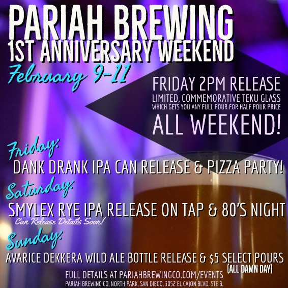 Pariah Brewing Is Celebrating Their 1st Anniversary. Here Are The Details