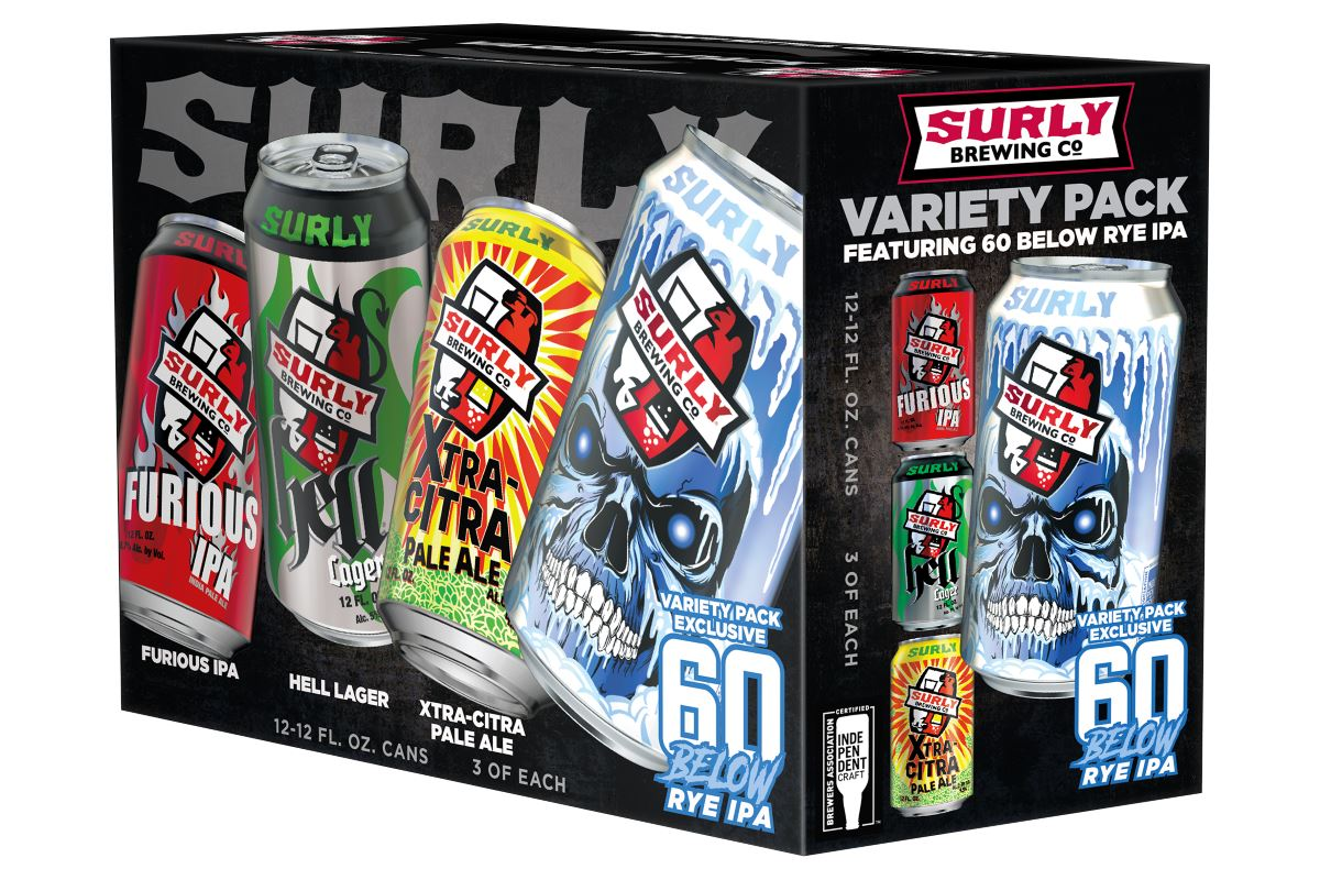 Surly Brewing Introduces Surly Variety Packs and 60 Below Rye IPA