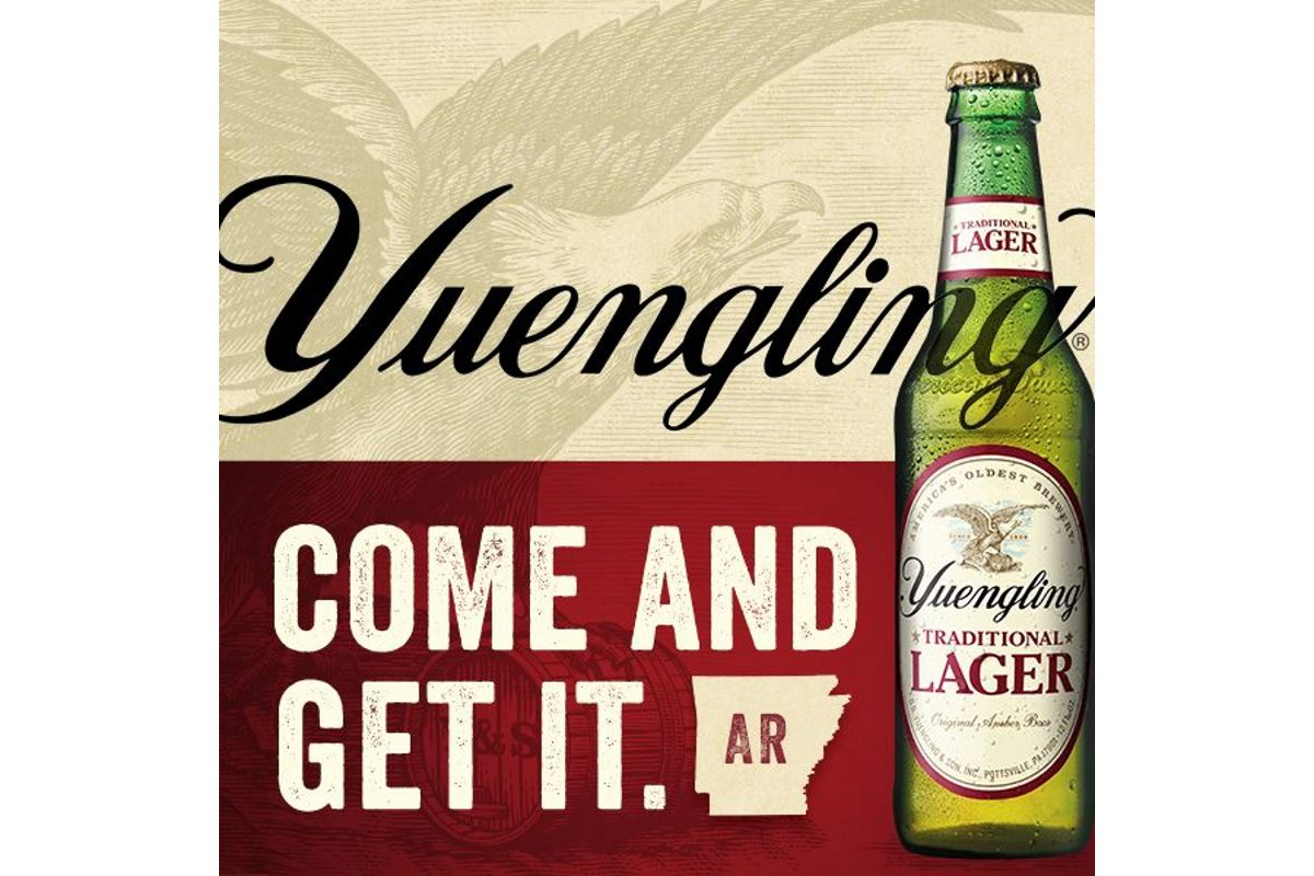 Yuengling's Brands Now Available in Arkansas