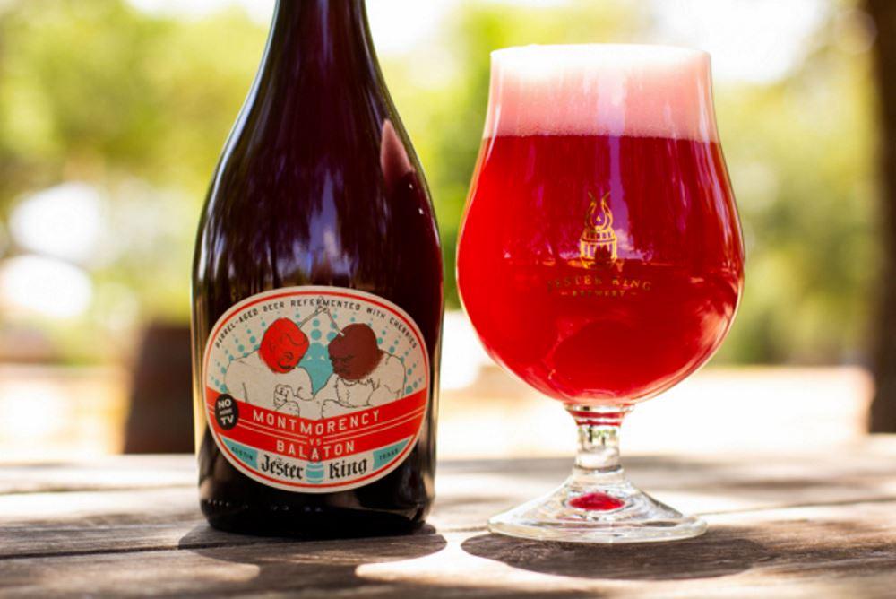 Jester King Brewery 2018 Montmorency vs. Balaton releases June 15