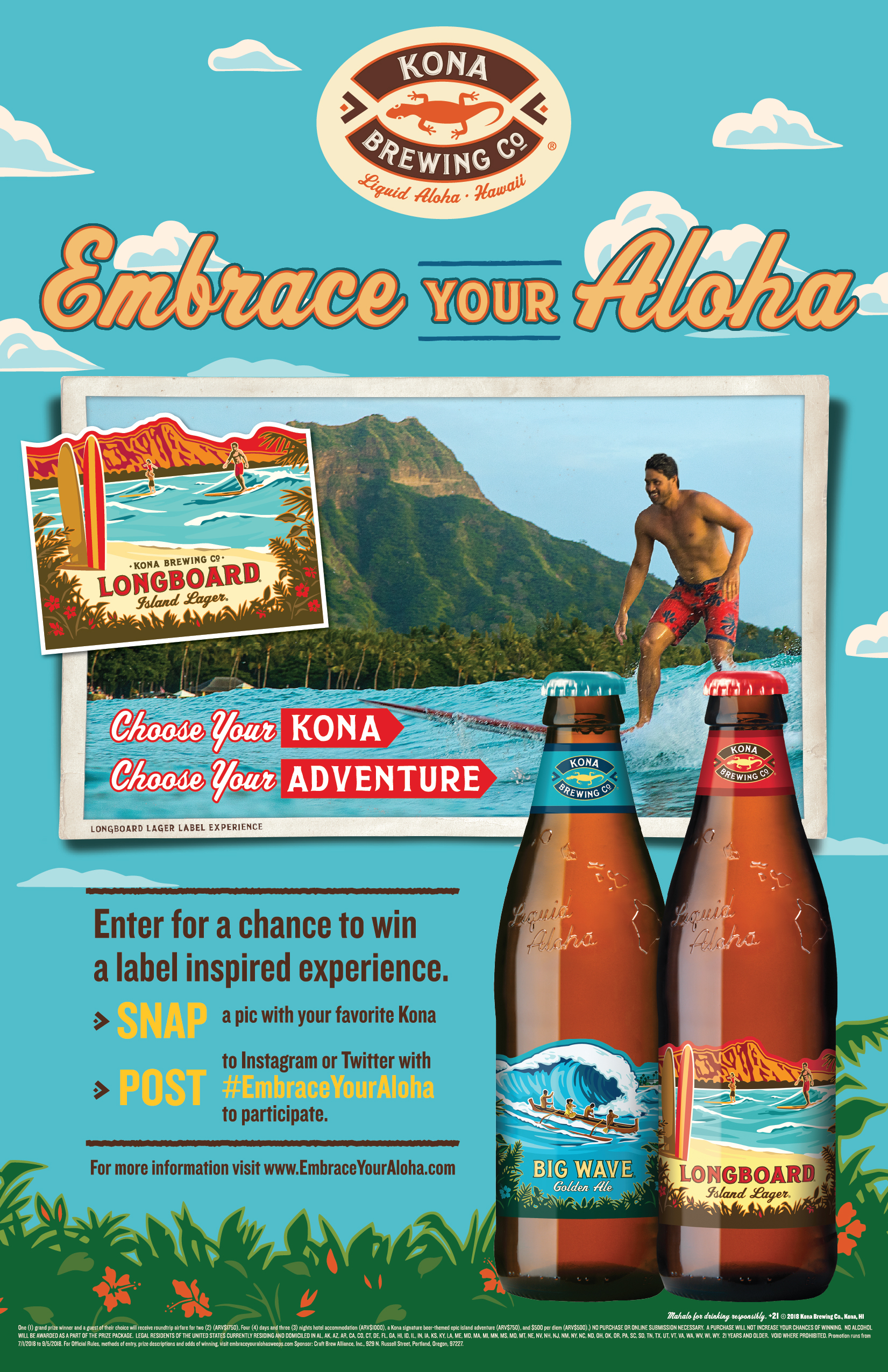 Kona Brewing Announces New Summer Campaign: Embrace Your Aloha