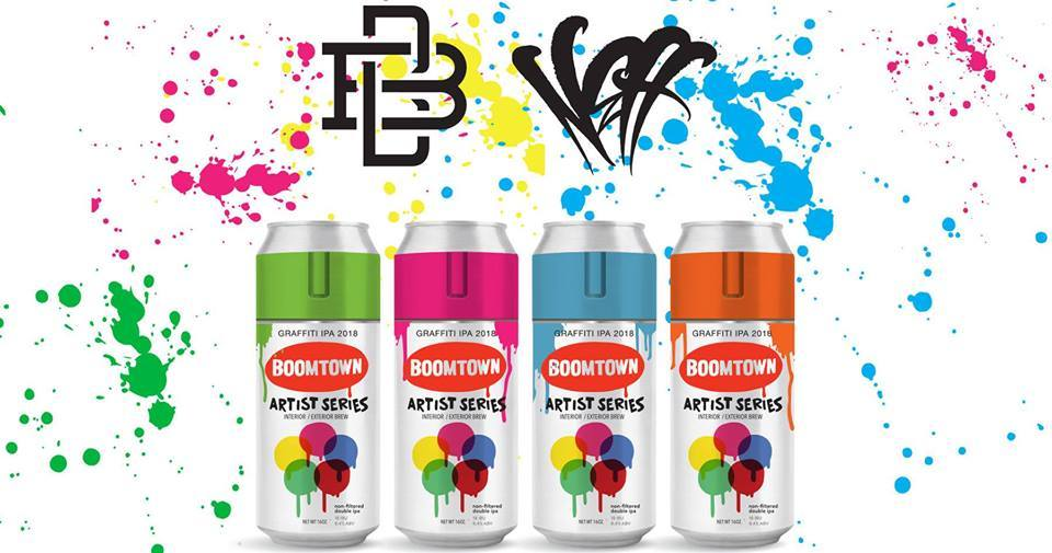 Boomtown Brewery Releases New Canned Hazy DIPA Graffiti in Collaboration with Artist DJ Neff