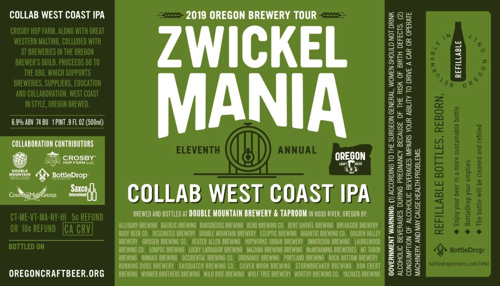 Zwickelmania celebrates 11th annual event with Oregon statewide collaboration beer
