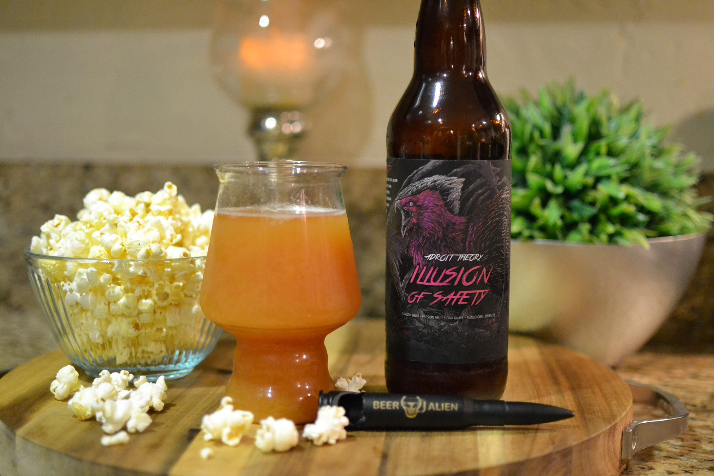 Beer: Illusion Of Safety by Adroit Theory Brewing - Glass Style: Funk by B Cups