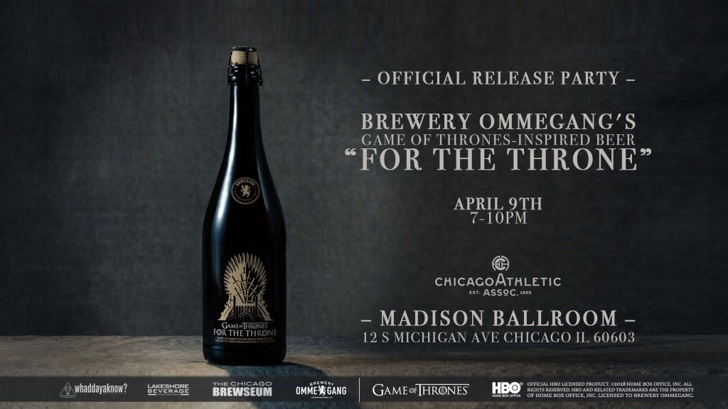 Brewery Ommegang To Launch Final Game Of Thrones Inspired Beer, Chicago release party details