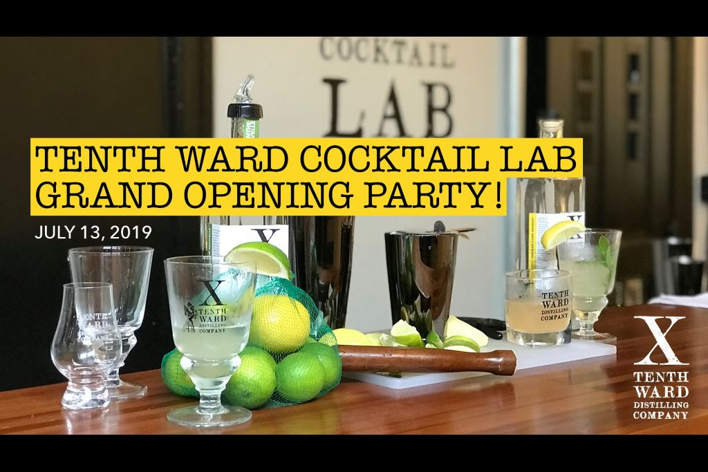 Tenth Ward Distilling Company Announces Cocktail Lab Opening