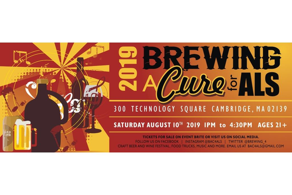 Brewing a Cure 4 ALS Fundraiser in Cambridge, MA is Aug 10