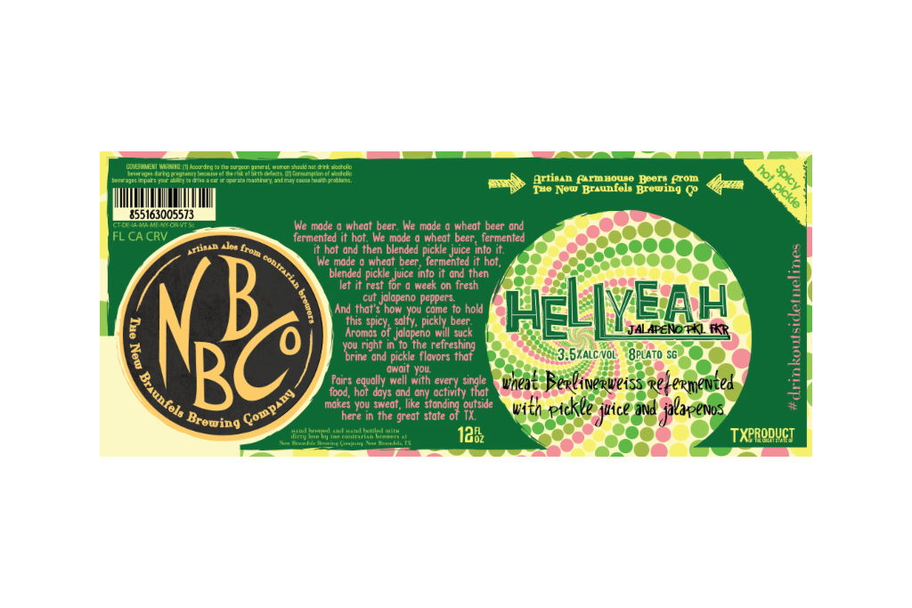 New Braunfels Brewing releases HellYeah jalapeño pickle sour