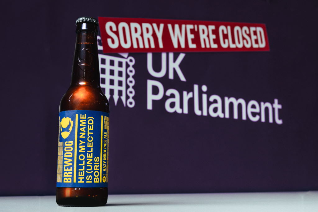 BrewDog releases Hello My Name Is (Unelected) Boris hazy IPA