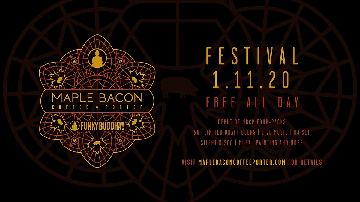 Funky Buddha Brewery's Maple Bacon Coffee Porter Festival This Saturday!