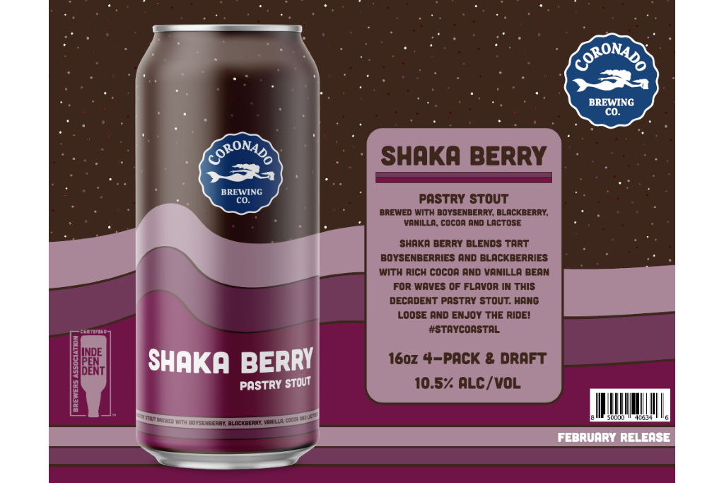 Coronado Brewing Releases Shaka Berry Pastry Stout Just In Time For Valentine's Day