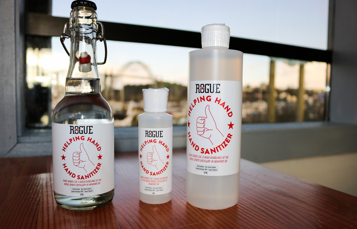 Rogue Turns Distillery into Hand Sanitizer Production Facility