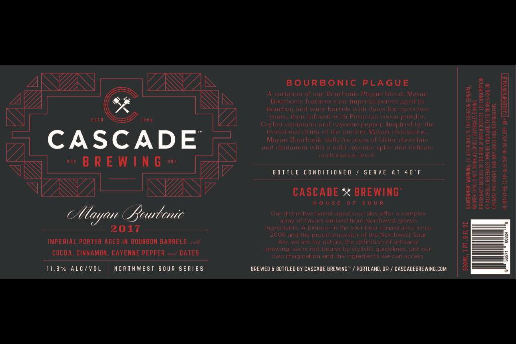 Cascade Brewing releases Mayan Bourbonic