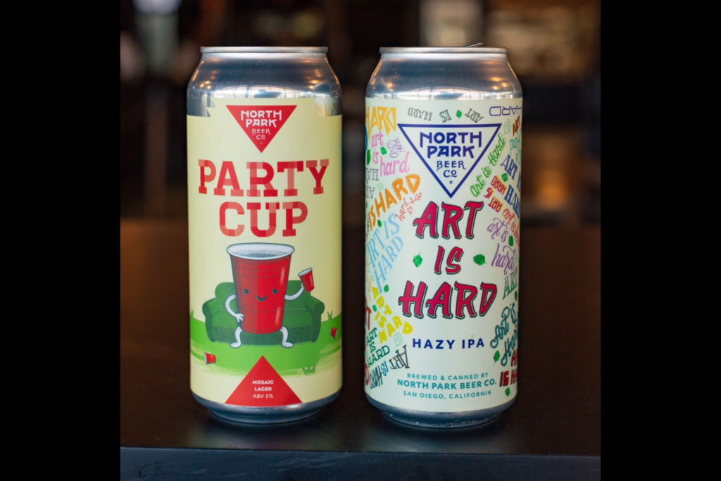 North Park Beer release two cans today, Art Is Hard and Party Cup