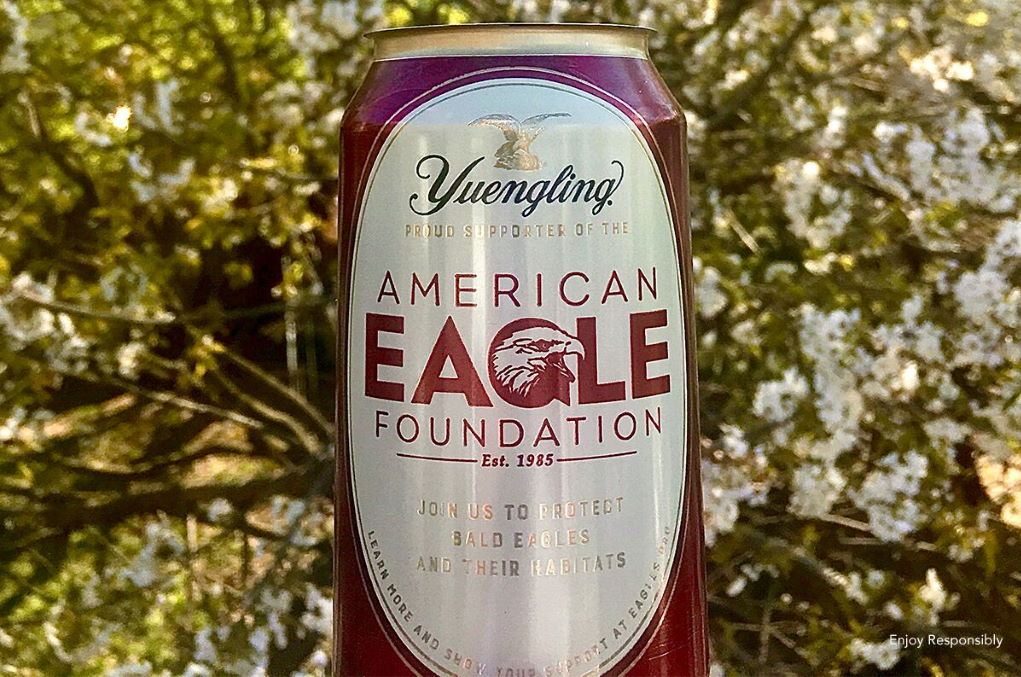 Yuengling Celebrates Earth Day's 50th Anniversary With Limited-Edition Cans Honoring The American Eagle Foundation