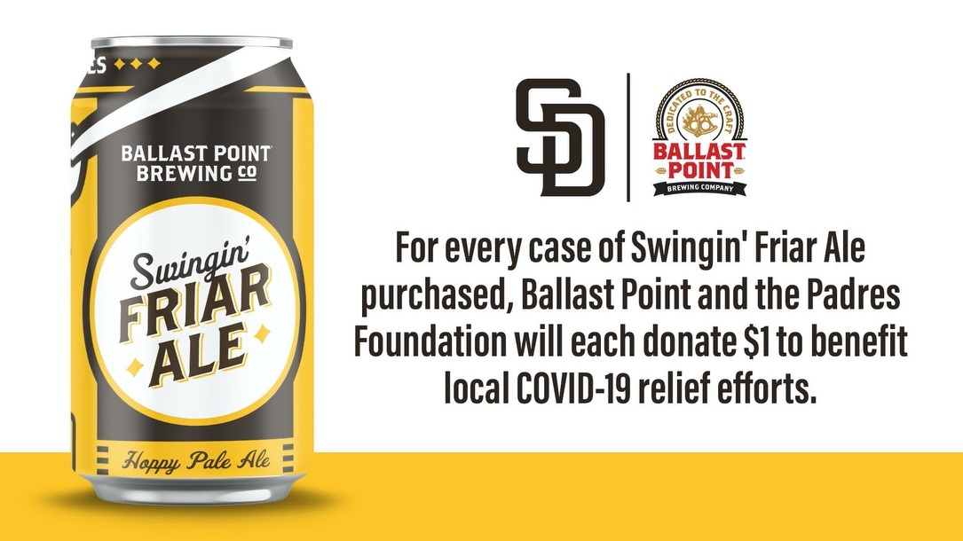 The Padres & Ballast Point Donate To Feeding San Diego