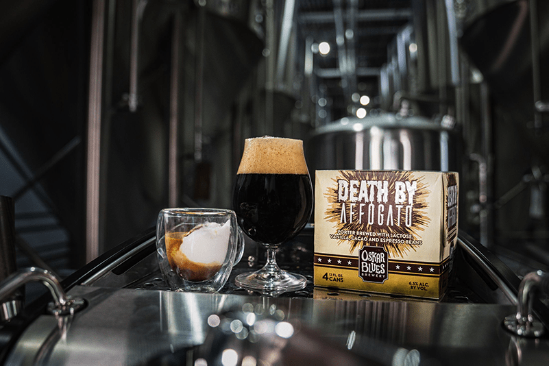 Oskar Blues Releases Death by Affogato. Smooth Vanilla Ice Cream And Espresso Porter