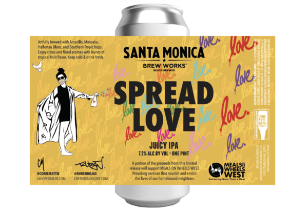 """Santa Monica Brew Works Releases """"Spread Love"""" IPA Supporting Meals On Wheels West"""