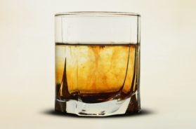 clear-glass-with-brown-liquid